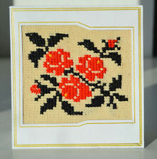 Traditional Ukrainian Embroidered Postcard. Hand made cross stitch.