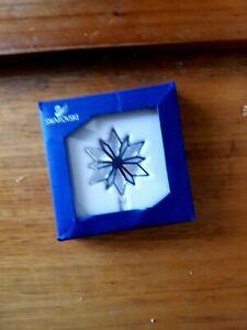 RARE Retired Swarovski Crystal Silver Star Christmas Ornament 5064261 Mint Boxed
