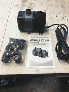 3600 L/H, 20 Gal Frequency Variation Pond Submersible Amphibious Eco Pump.  947