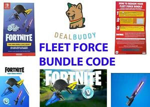 🎮 Fortnite Fleet Force Bundle Code For The Nintendo Switch Console Lite 500 VC✅