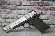 "Colt 1911 Full Metal ""Rail Gun"" CO2 Blowback Airsoft Pistol - Two Tone"
