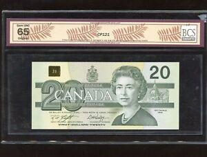 1991 Bank of Canada $20 - BCS Gem Unc. 65, Original - S/N: EYE2499040
