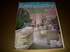Vintage HOUSE & GARDEN Magazine, June, 1971, BACKYARD LIVING, OPEN-FIRE COOKING!