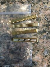Mens Tie Clips Lot Of 4