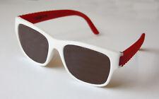 argus Festival-Sonnenbrille  rot/weiß unkaputtbar NEU
