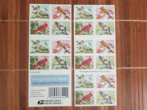 2016 Songbirds in Snow Forever  Stamps (Booklet of 20 Stamps)