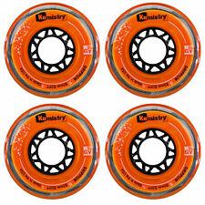 Tour Kemistry Inline Roller Hockey Wheels Grippium Orange 76mm 78A 4-Pack
