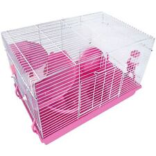 Pet Animal Hamster Cage Feeding Habitat Portable Gerbils Mice Home Mouse House