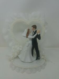 Wilton First Dance Dancing Wedding Couple Cake Topper on Display Piece 1989