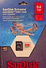 Brand New SanDisk Extreme 64GB microSDXC UHS-I Card w/ Adapter