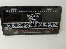 World Wresting Federation Armageddon license plate WWF WWE 1999 NEW collectible