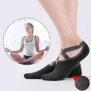 Yoga Socks with Non-Slip Grip Pilates Barre Ballet Dance Gym Sports Fitness