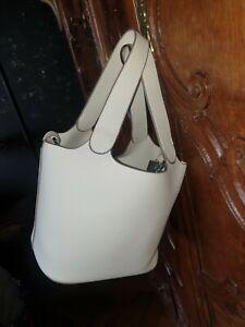 Neuf sac seau blanc cadenas avec pochette