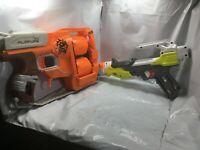 Nerf Gun Lot Of 2 Zombie Strike Flipfury Blaster And Modulus Free Shipping