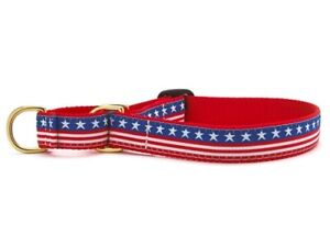 Dog Martingale Collar - Up Country - Made In USA - Stars & Stripes - S, M, L, XL