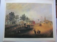 """Artist Wm A Wall """"Barnstable, Mass, 1857"""" 15x17.5 American Masterpiece Print"""