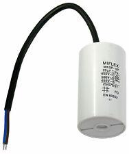 Condensateur moteur 25 permanent / de Démarrage 450v 25uf 25µf 10 Ø45x78 Miflex