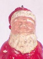 Santa Claus Figure Christmas Decoration Chalkware Small Vintage #42