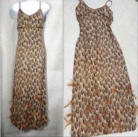 St. John couture feather dress evening gown paillettes size 4