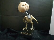 Creepy Scary Ooak Doll Bobble Art Halloween SkeletonCreature By Mig No.9 Limited