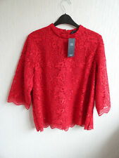 NEW + TAGS M & S COLLECTION LACE OVERLAY TUNIC TOP - UK 18 - CHARITY AUCTION