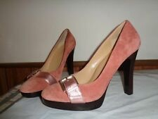Michael Kors PINK Suede Leather High Heels Shoes Pumps Size 10M
