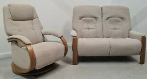 Himolla Fabric Reclining Chair and 2 seater sofa 11021