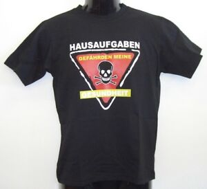 Fun T-shirts 200 stück -Hausaufgaben -  Gr.140 -152-S M-L XL-XXL gemischt.