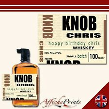 L13 Personalised Bourbon Kentucky Whiskey Bottle Label - Perfect Any Occasion!