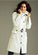 Vivien Caron Mantel Gr.42 NEU Damen Jacke Offwhite/Weiß Wintermantel mit Gürtel