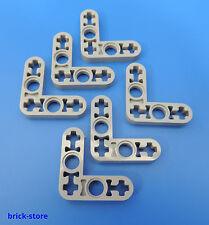 LEGO technique Nr 4211574 / 3x3 Croix+Trou Angle Reliure gris clair / 6 Pièces