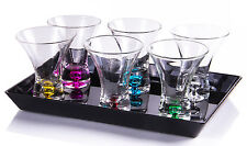 Shot Glasses 6 pcs with Serving Tray