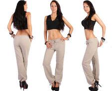 Pantaloni da donna in cotone beige taglia 42