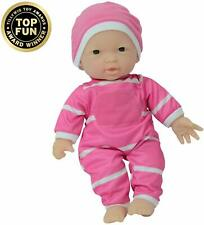 Asian Baby Doll 11in Soft Body Realistic Pink White Outfit Matching Hat Gift Box