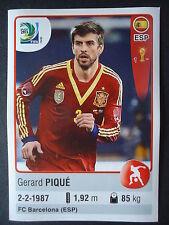 Panini 143 Gerard Pique Spanien Confed Cup 2013 Brasilien