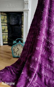 Large Ribbed Fur Blanket Sofa / Bed Throw Polar Fleece Backing 150x200cm