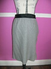 COAST BLACK WHITE HOUNDS TOOTH check WIGGLE FITTED FISHTAIL OFFICE SKIRT 10