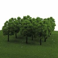 HO OO Scale 1:100 Model Trees Train Railroad Diorama Wargame Park Scenery 50PCS