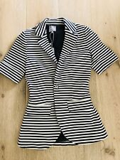 HI THERE KAREN WALKER BLAZER STRIPED BLUE WHITE LINED Tailored NWT  SZ 6