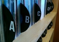 """7"""" Vinyl Record Dividers (x24) Alphabetised - handmade from up-cycled vinyl #2"""