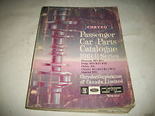 1961 DODGE CHRYSLER PLYMOUTH DeSOTO IMPERIAL CHASSIS/BODY PARTS CATALOG