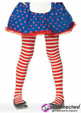 11-13 years Girls Red And White Striped Tights by Leg Avenue