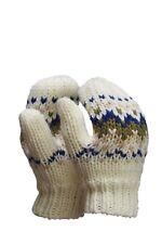 CMP Handschuh Fäustling Strickhandschuh weiß Muster Fleecefutter warm
