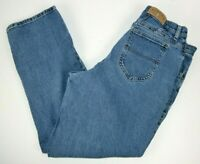 Lee Denim Riders Women's Petite Tapered Leg Blue Jeans 16P