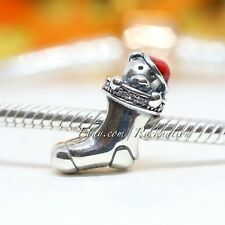 Authentic Pandora Sterling Silver Christmas Stocking Red Enamel Bead 791773CZ