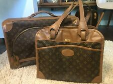 Louis Vuitton Travel Weekender Carryall Suitcase Luggage Vintage Saks French Co