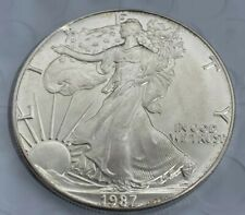 1987 American Silver Eagle Coin BU 1 oz US $1 Dollar Brilliant Uncirculated B2