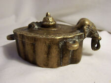ENCENSOIR XIXème BRONZE tête d'ELEPHANT orient THAILANDE anneaux de suspension