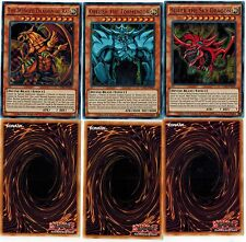 *TOURNAMENT LEGAL Obelisk the Tormentor Slifer Sky Winged Dragon of Ra God LDK2