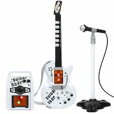 Kids Electric Rock Star Guitar & Microphone Karaoke Set Amplifier Musical Toy